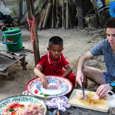 Thailande - preparation du repas Thuang Luang 2