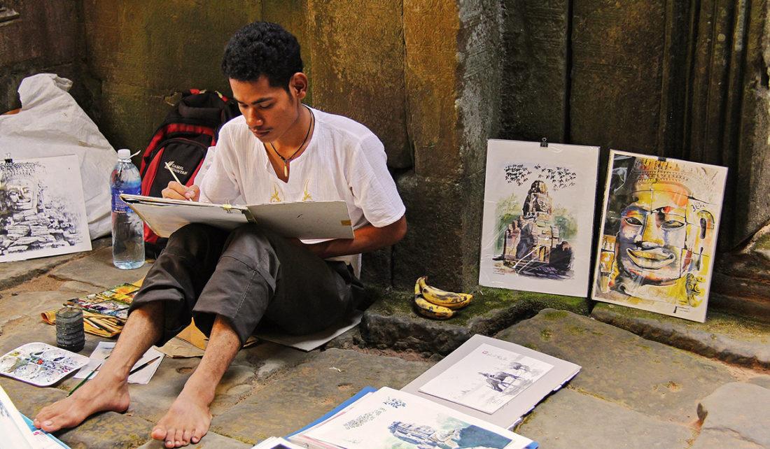 Cambodge - Un artiste de rue