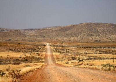 Dirt road en Namibie