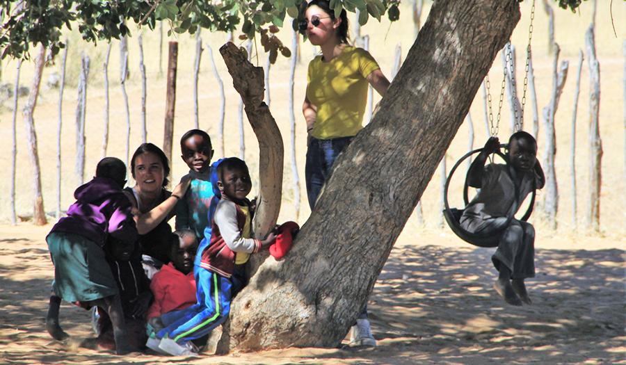 Namibie - au village