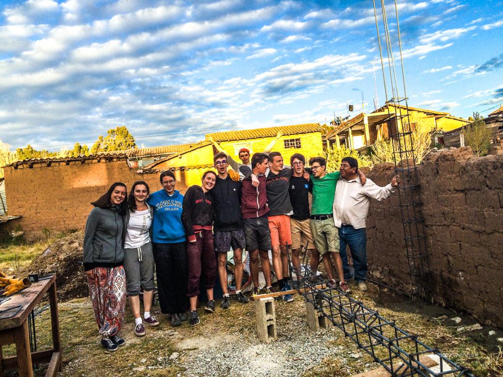Perou - Chinchero, construction maternelle 2 BD
