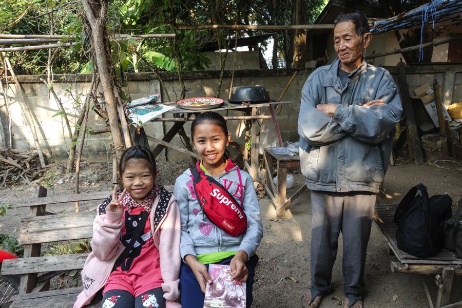 Thailande - la famille d'accueil à Thuang Luang