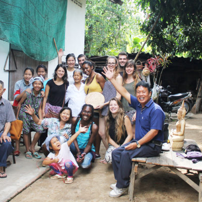 Thailande - photo de groupe au village