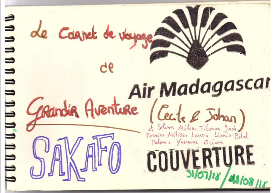 Couverture cahier voyage solidaire Madagascar