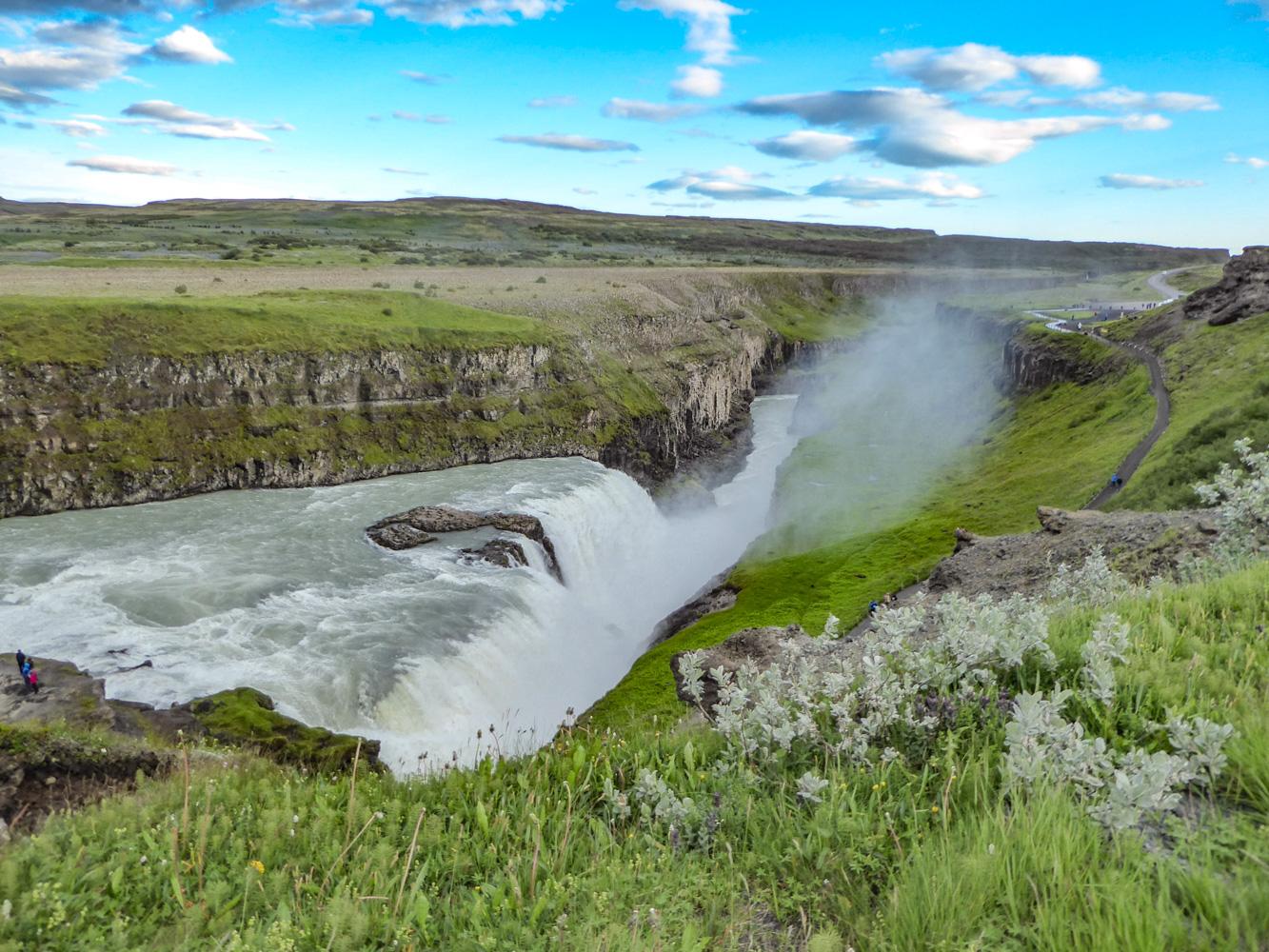 Islande - Chutes de Gullfoss, été