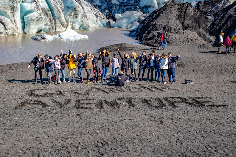 Islande - Glacier, groupe