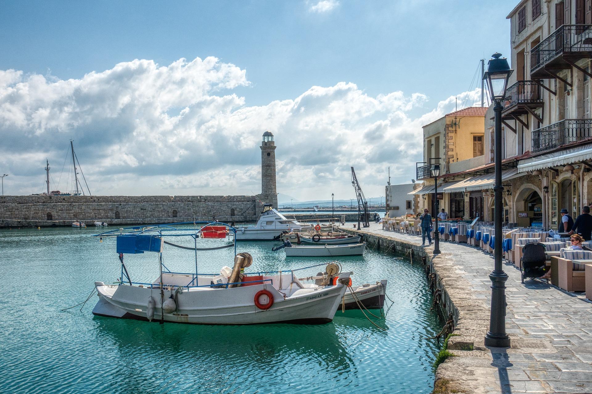 Crète - Rethymno, port (Pixabay) 1